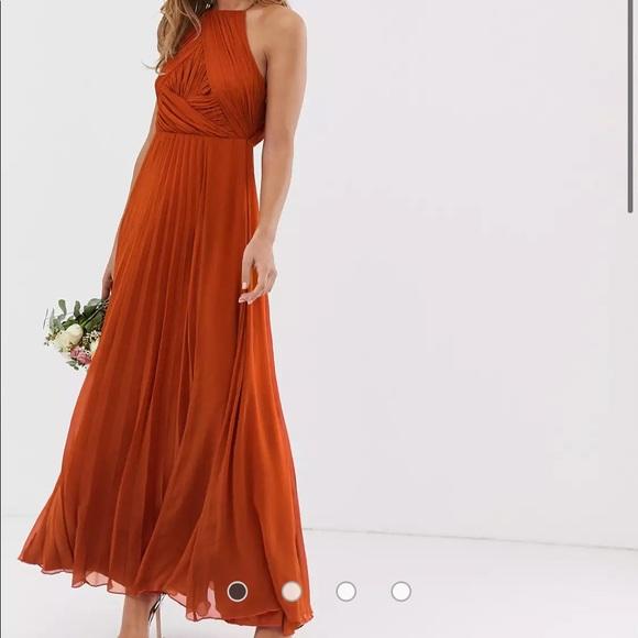 Burnt Orange ASOS Maxi Dress  NWT